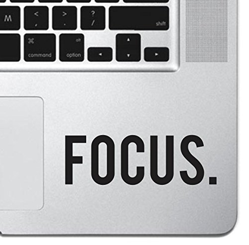 Focus Sticker Decal MacBook Pro Air 13 15 17 Keyboard Keypad Mousepad Trackpad Laptop Retro Vintage Motivational Text Quote Laptop Sticker iPad Sticker Inspirational Sticker
