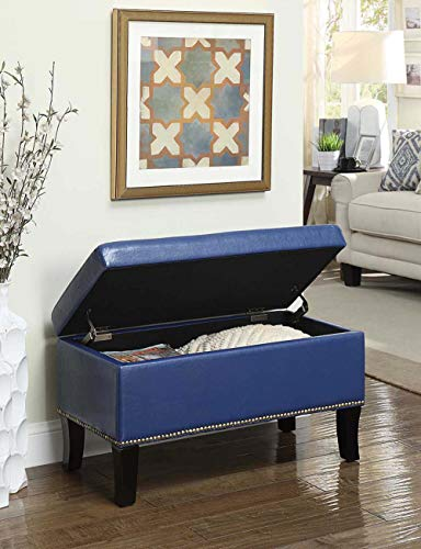 (Convenience Concepts 161322BE Designs4Comfort Winslow Storage Ottoman, Blue)