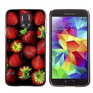 Paccase / SLIM PC / Aliminium Casa Carcasa Funda Case Cover para - Fruit Deep Red Vibrant Green - Samsung Galaxy S5 SM-G900
