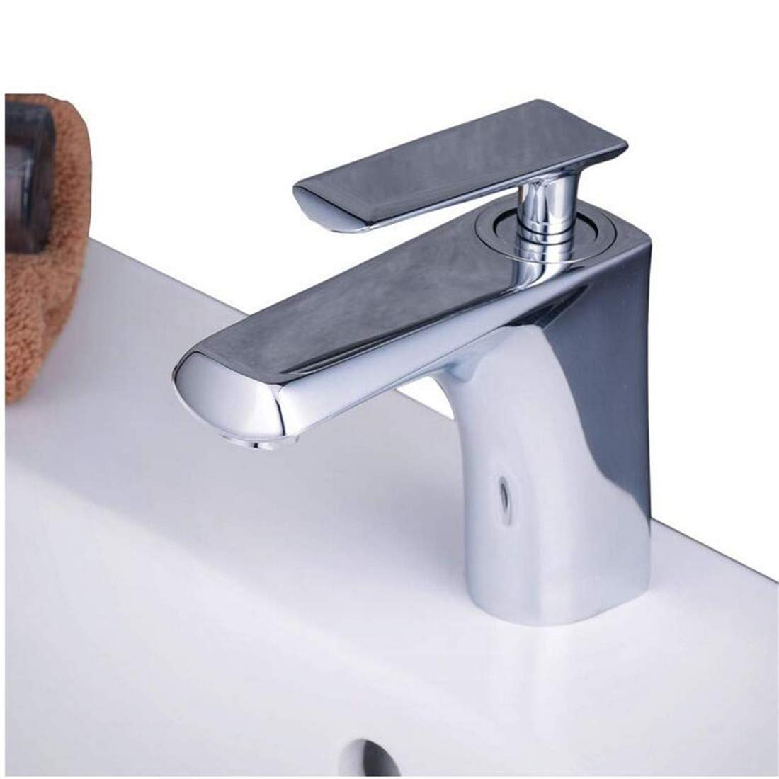 Retro Kitchen Hot and Cold Water 360 Degree redation Mono Basin Mixer Tap Bathroom Sink Taps Lever Wash Basin Faucet