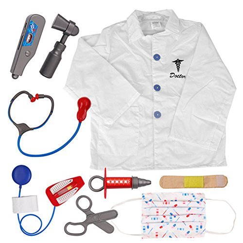 [TopTie Doctor Role Play Set / Dress Up Surgeon Costumes Set For Kids DOCTOR-S] (Doctor Costumes For Toddlers)