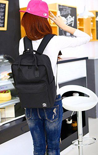 School Fashion Keshi straps Laptop College Backpack Reinforced Blue Canvas Sky wrgCqxrt