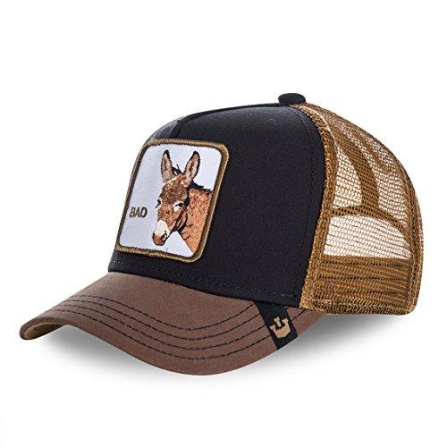 Goorin Brothers Unisex Animal Farm Snap Back Trucker Hat Black Donkey One Size -