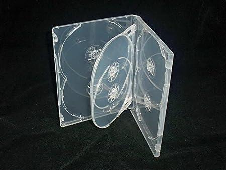 DORSO DA 14 MM VISION MEDIA-5 CUSTODIE TRASPARENTI PER DVD