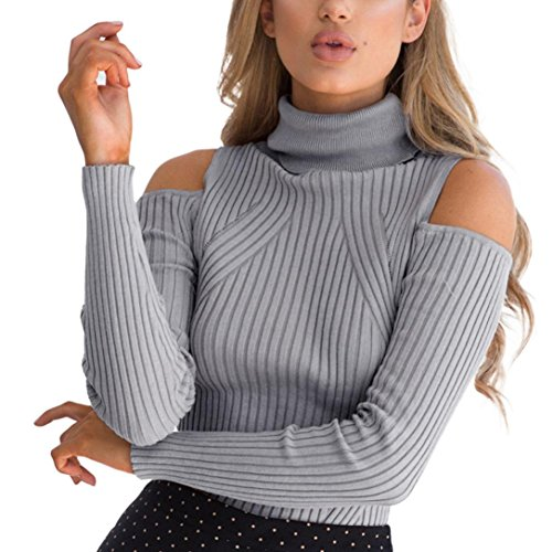Hiver Manches LuckyGirls Col Femmes Roul Slim Longues 5x6w8p6