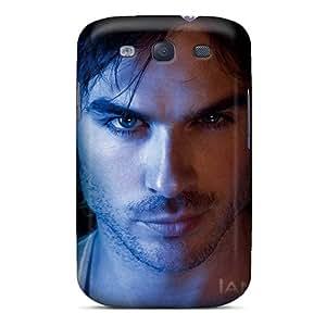 Shock-Absorbing Hard Phone Cases For Samsung Galaxy S3 (mQw3837WSND) Allow Personal Design High-definition Ian Somerhalder Skin