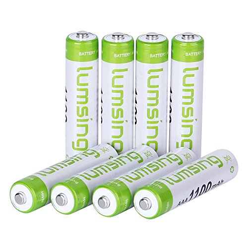 Rechargeable AAA Batteries(8-Counts) Pre-charged AAA 1100mAh Ni-MH Batteries