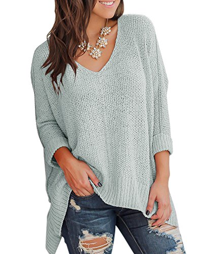 Imily Bela Womens Asymmetric Off The Shoulder Slouchy Pullover Cable Knitted Sweater