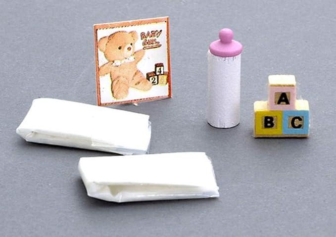 Accesorios para Bebé Miniatura - Para Casa de Muñecas - Juego 286
