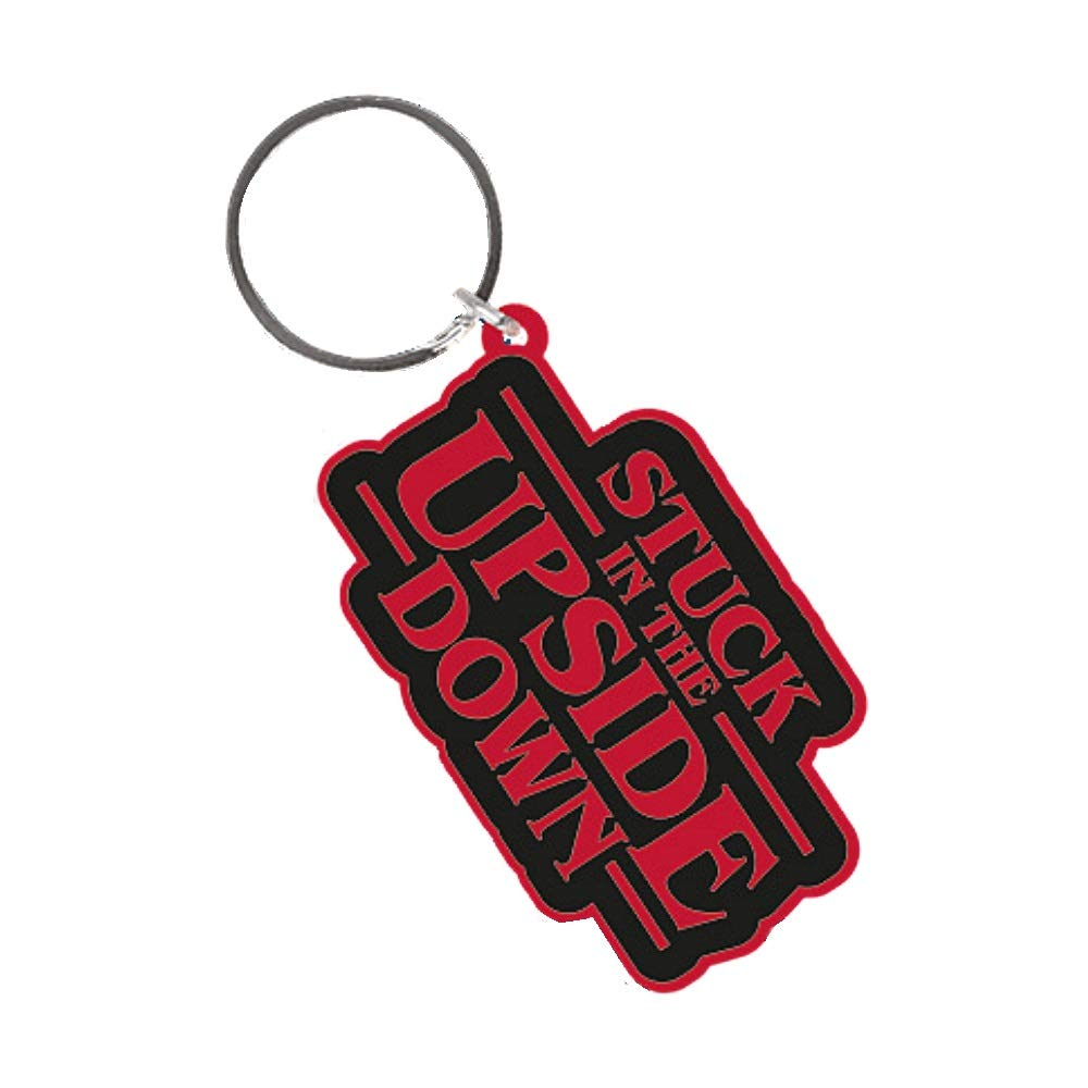 Pritties Accessories Genuine Stranger Things Stuck in The Upside Down Rubber Keyring Key Fob