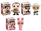 "Funko A CHRISTMAS STORY 3pc 3.75"" POP VINYL FIGURE SET with Pink Bunny Ralphie - The Old Man & Cowboy Ralphie"