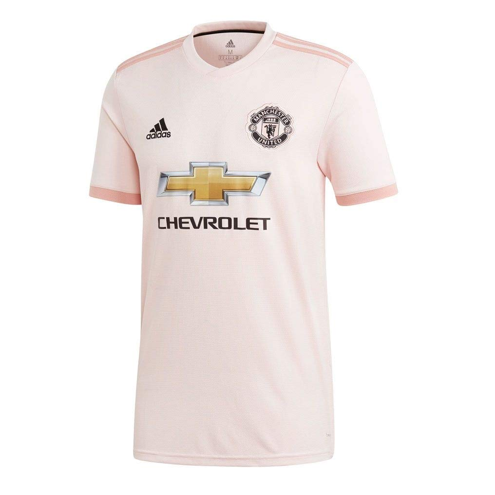 adidas Men's Soccer Manchester United FC Away Jersey, Icey Pink, Large by adidas