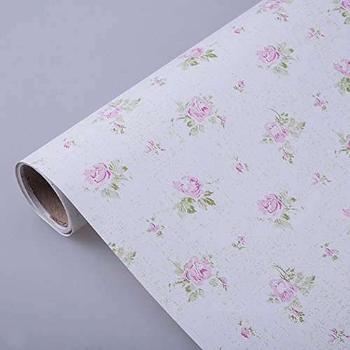 Kitchen Shelf Liner Paper: SimpleLife4U Pink Rose Contact Paper Removable Shelf Liner