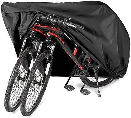 AngLink Cubierta para Bicicleta 2 Bicicletas Impermeable 210D Oxford, Transpirable, Funda Protectora Bici contra 200x110x100cm: Amazon.es: Deportes y aire libre