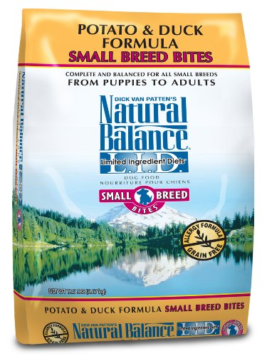 Natural Balance Dry Dog Food, Grain Free Limited Ingredient Diet Small Bites Duck and Potato Formula, 12.5 Pound Bag, My Pet Supplies