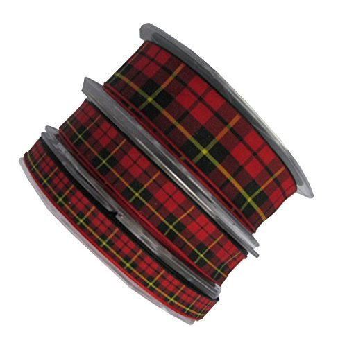 Full Reel(20m) of 10mm wide Wallace Tartan Ribbon. (Other widths selectable via button) by Standard (Tartan Ribbon Mm 10)