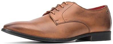 7ada025a3da3f Base London Shilling Waxy Tan Leather Mens Brogues Formal Shoes ...