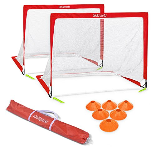 GoSports Premier Portable Pop Up Soccer Goals for Backyard - Kids & Adults - Available in 4' and 6' Sizes by GoSports