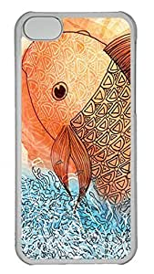 iPhone 5c Cases Unique Cool PC Transparent Cases Personalized Design Bart The Shark