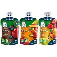 18-PK Gerber Organic 2nd Foods Baby Food Fruit & Veggie 3.5oz