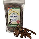 Green Butterfly Brands Organic Grain Free Dog Treats - Made in USA Only - All Natural, Meaty Beef Sticks - Premium Slow Roasted American Beef - Grass Fed, Farm Raised - Crunchy & Delicious - Dogs Love