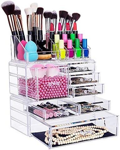 FOBUY Durchsichtiger Acryl-Make-Up-Organiser Aufbewahrungsständer, für Kosmetik-Sets oder Schmuck