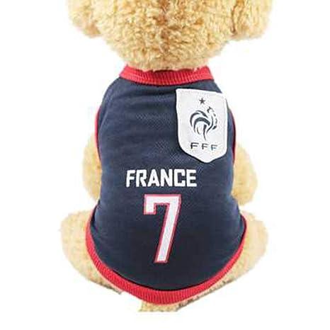 SungpunetSmall - Camiseta de fútbol para Perro, tamaño Grande, Transpirable, Talla XL,