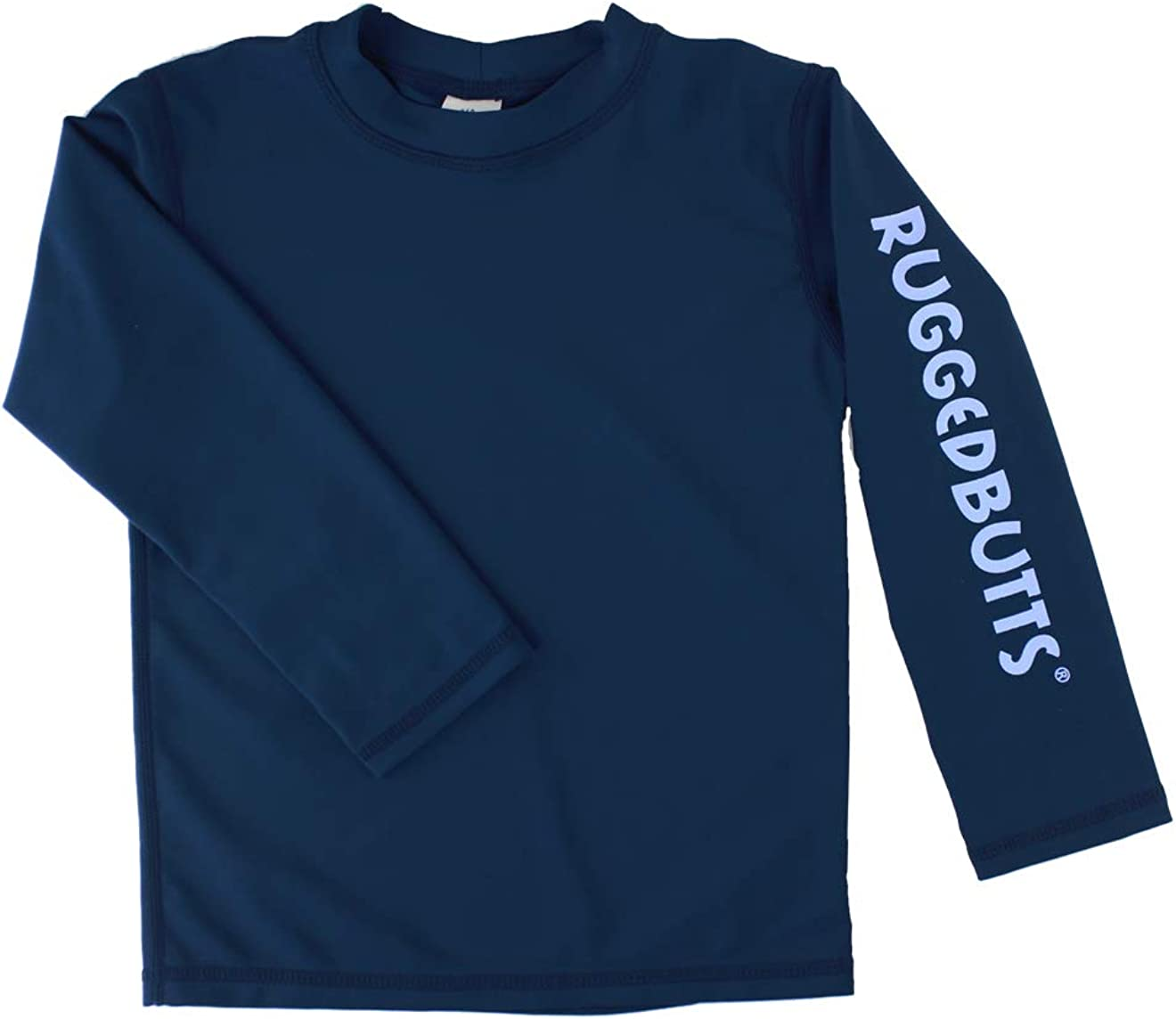 3-6m Sun Protective Rash Guard Surf Swim Shirt RuggedButts Baby//Toddler Boys Navy Long Sleeve UPF 50