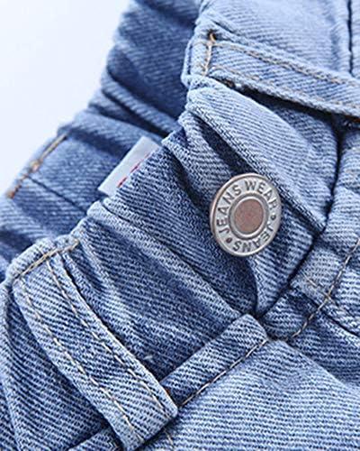 YouXin Ragazze per Bambini Magro Jeans Denim Elastico Jeggings Pantaloni Salopette