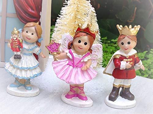 (Miniature Mini Village Christmas Nutcracker Clara Sugar Plum Prince - Miniature Magic Scene Supplies Your Fairy Garden - Outdoor House Decor )