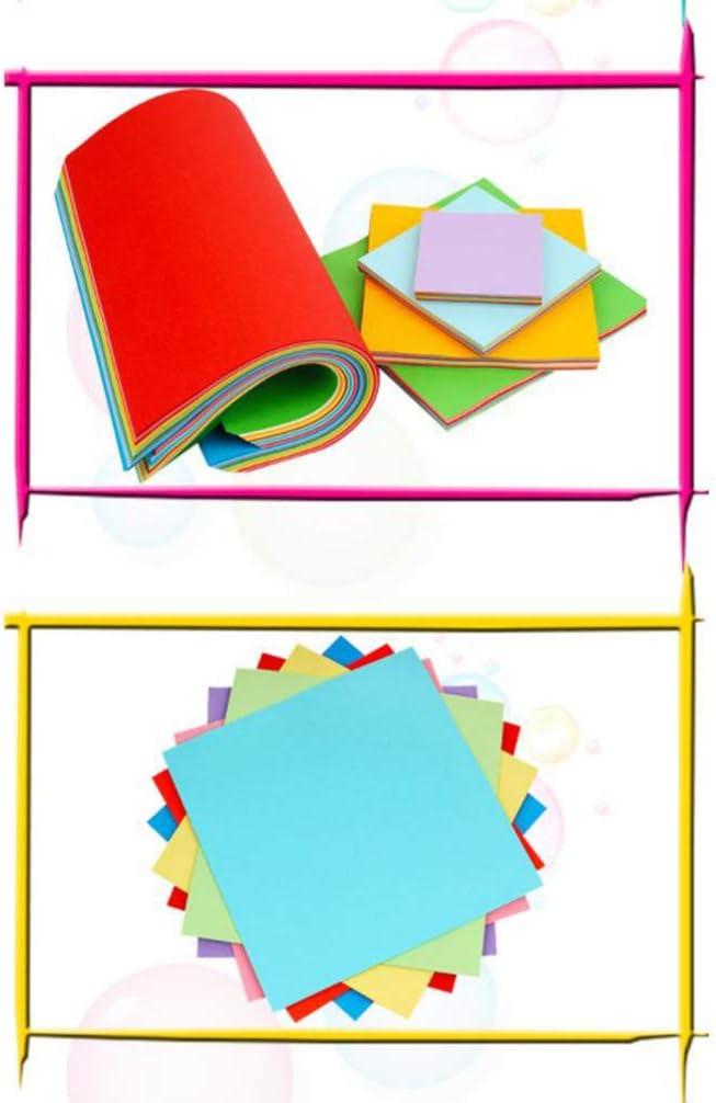 NUOBESTY 500 Hojas de Papel de Origami para Manualidades Y Hojas Cuadradas para Principiantes Entrenamiento Y Escuela