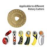 Titanium Coated Rotary Cutter Blades 45mm 10 Pack