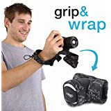 Camera Strap Wrist Grip and Wrap For CSC Cameras White and Black Padded Case