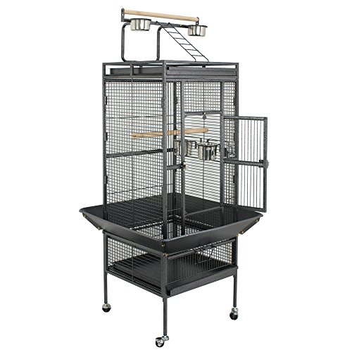 Birdcages And Supplies (ZENY Birdcage Pet Large Bird Cage Play Top Parrot Cockatiel Cockatoo Parakeet Finch Pet Supply (61