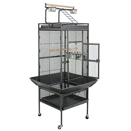 ZENY Birdcage Pet Large Bird Cage 61'' Play Top Parrot Cockatiel Cockatoo Parakeet Finch Pet Supply by ZENY
