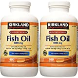 Cheap Kirkland Signature Natural Fish Oil Concentrate with Omega-3 Fatty Acids – 400 Softgels (Pack of 2)