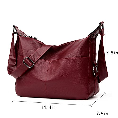 Bag Wine Shoulder Leather Women Red PU Millya qITRO
