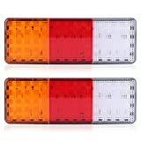Car Taillight, 2 x 12V 75-LED Truck Trailer Boat Rear Tail Brake Reverse Taillight Indicator Lamp Waterproof
