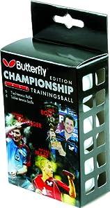 Butterfly Tischtennis-Ball, Edition Championship, Trainingsball, 6 Stk