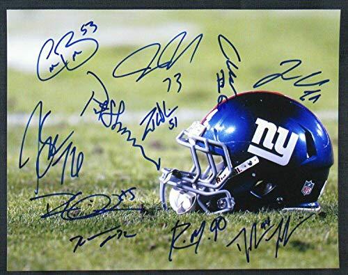 (Autographed Zak DeOssie Photo - 11x14 Pat Shurmur +8 - Autographed NFL Photos)