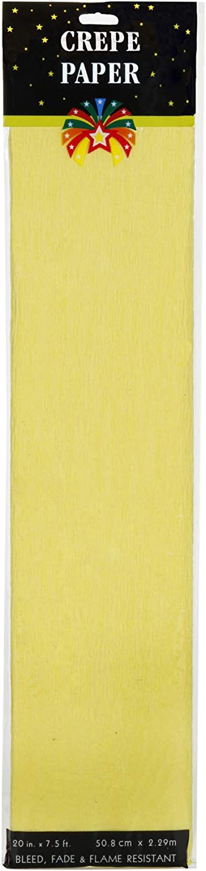 Yellow Darice 2507-34F Crepe Paper 7.5 x 20