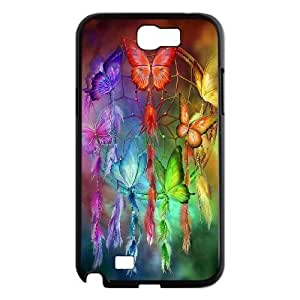 Diy Colorful Dream Catcher Tribal Custom Cover Phone Case for samsung galaxy note 2 Black Shell Phone [Pattern-1]