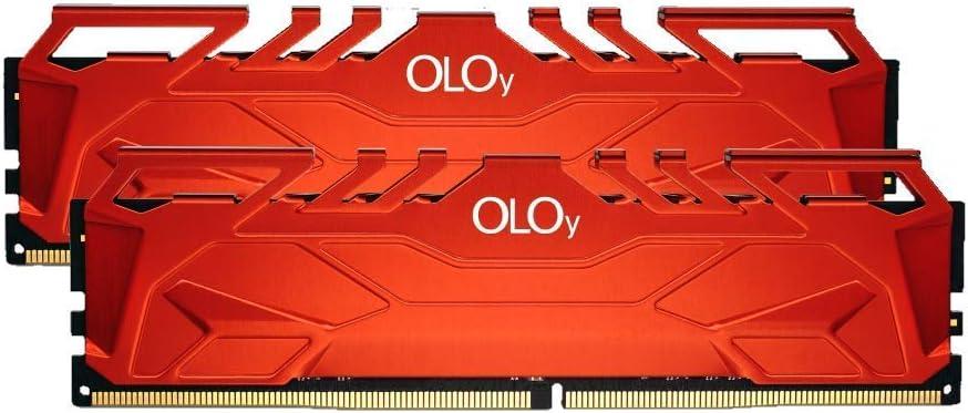 OLOy DDR4 RAM 16GB (2x8GB) 3000 MHz CL16 1.35V 288-Pin Desktop Gaming UDIMM (MD4U083016BHDA)