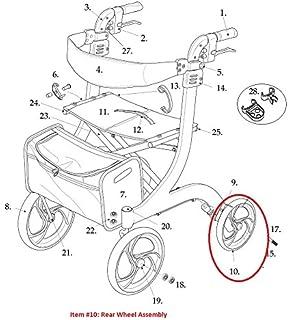 Amazon.com: Derecho de la rueda trasera Asamblea con ...