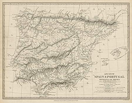 Hipania Iberia. Antiguo Portugal y España. Nombres Romanos y ...