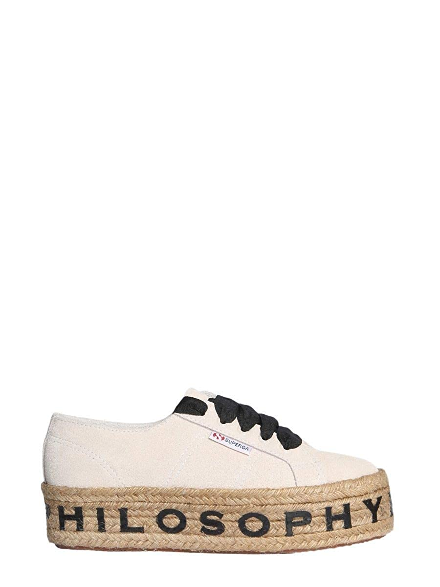 - PHILOSOPHY Women's A320207720004 Beige Leather Sneakers