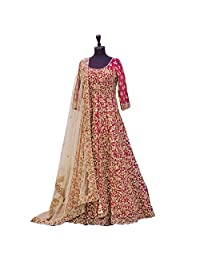 RUHANI Women's Anarkali Salwar Kameez Designer Indian Dress Bollywood Ethnic Bridal