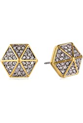 Juicy Couture Pave Hexagon Stud Earrings