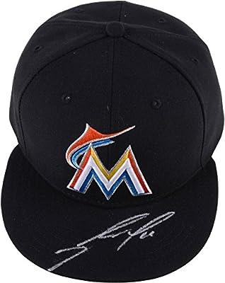 Jose Fernandez Miami Marlins Autographed Black Cap - Autographed Hats