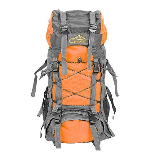 Vanhon Waterproof Travel Large Capacity Backpack Free Knight 50L FK0218 Outdoor Waterproof Nylon Hiking Camping Backpack (Blue)